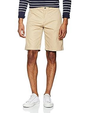 Lacoste Men's Men's Beige Cotton Gabardine Bermuda Shorts Beige