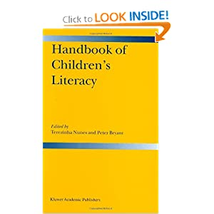 Handbook of Children's Literacy Terezinha Nunes and Peter Bryant