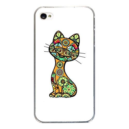 "Disagu Design Case Coque pour Apple iPhone 4 Housse etui coque pochette ""Lustige Katze"""