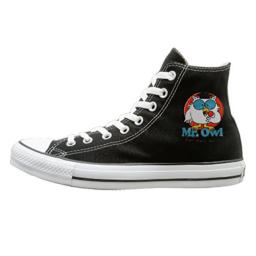 DIANA Adult Mr. Owl Dunk High Canvas Shoes Sneakers Slip On Shoes 35 Black (Tootsie Roll Owl Costume)
