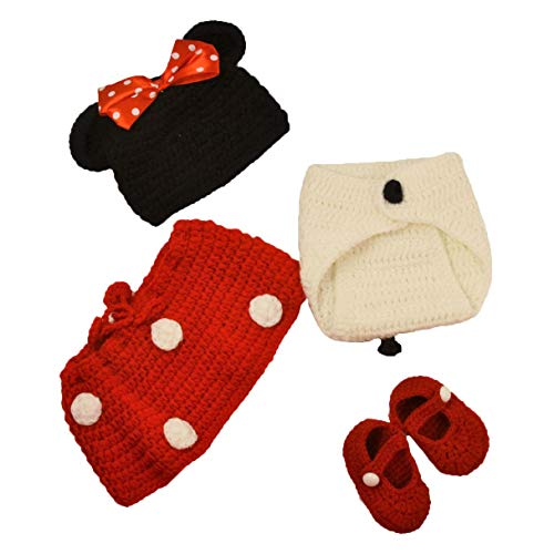 Wholesale Princess Red, Black and White Crochet Minnie Mouse Set from Dress Up Dreams Boutique
