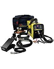 CANAWELD TIG AC DC 201 Pulse D High Frequency Digital 200 Amp Welder Stick Ability to select 120 and 240 Volt Inverter Igbt TIG STICK Welding Machine Aluminum Stainless Steel Metal Thickness 0.002 Inch To 1/4 Inch Premium Flexible Torch CSA Approved Made in Canada 3 Years Warranty (PREMIUM INCLUDING FOOT PEDAL)