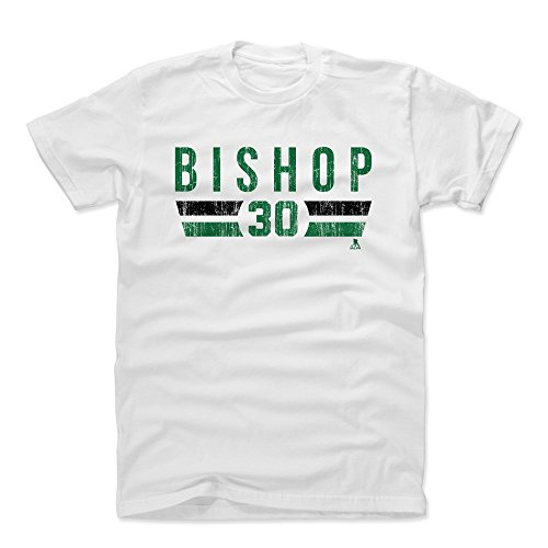 - 500 LEVEL Ben Bishop Cotton Shirt (Large, White) - Dallas Stars Men's Apparel - Ben Bishop Font G