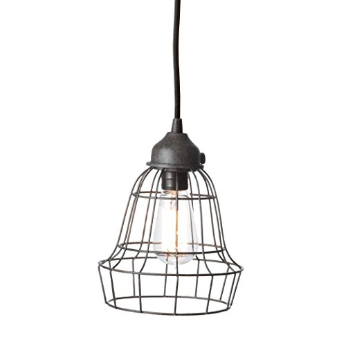 Wire Barrel Pendant Light