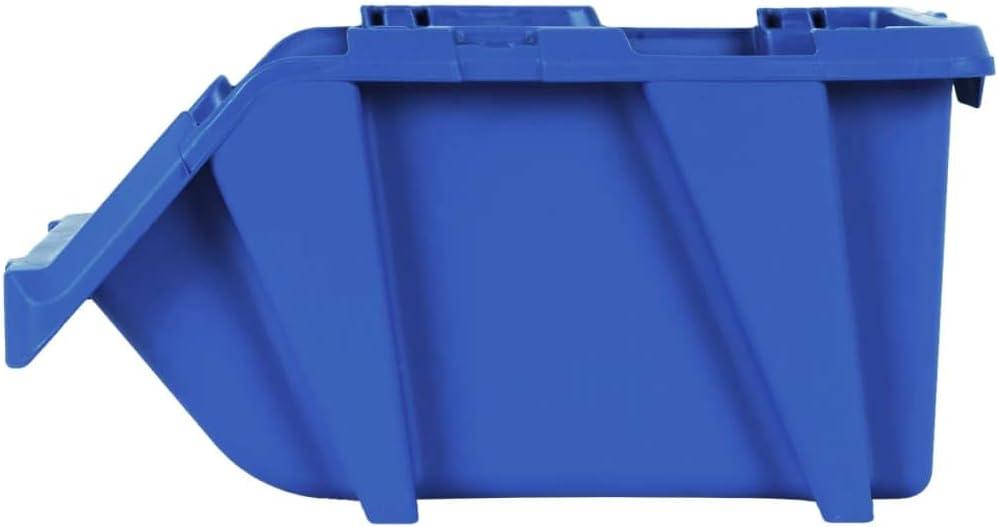 Festnight Bac de Rangement Casiers de Rangement bo/îtes de Rangement 75 pcs 153 x 244 x 123 mm Bleu