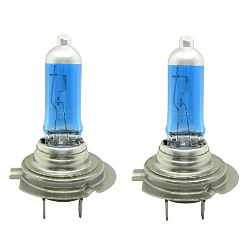 WerFamily H7 55W Low Beam Headlight Bulbs Halogen Xenon HID Super White Replacement w case (Pack of 2) (Low 55w Beam)