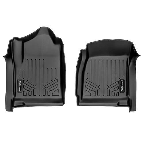 MAX LINER A0348 Black Mats 1st Row Set 2014-18 Silverado/Sierra 1500-2015-18 2500/3500 HD Regular Cab with Vinyl Floor