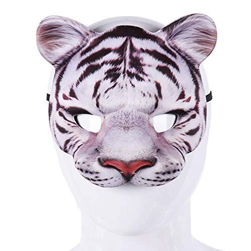 EVA Half face Animal Tiger White Tiger mask (White)]()