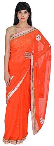 tanishq-designers-chiffon-saree-td007-orange