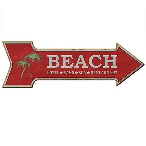 HANTAJANSS Road Signs Retro Beach Signs for Hotel ()