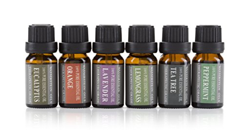 Large Product Image of Aromatherapy Oils 100% Pure Basic Essential Oil Gift Set by Wasserstein (Top 6, 10ml)