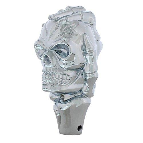 Universal Chrome Skull Shift Knob Hot Rat Street Rod Muscle ()