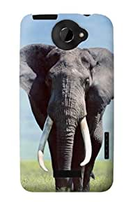 S0309 Africa Elephant Case Cover for HTC ONE X