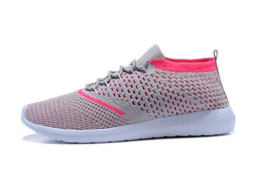 de rosa para Hombre Zapatillas Running gris Material de Kenswalk Sintético Aw5zxgRq