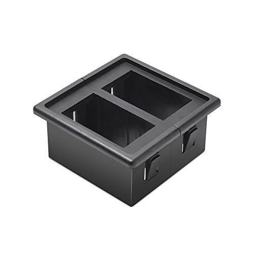 (MicTuning MH002 2PCS Rocker Switch Holder Panel Housing Kit Fireproof ABS Plastic Black)