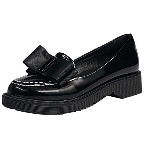 COOLCEPT Women Low Top Court Shoes Black FBZPRXgtV