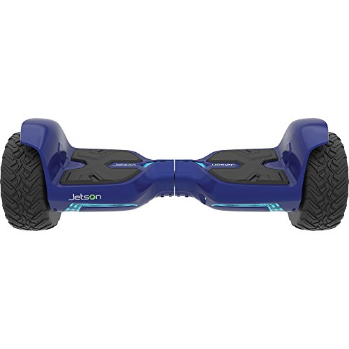 Jetson Blue V6 XL Hoverboard All Terrain Smart 2-Wheel Electric Self Balance Scooter - Bluetooth Speaker, LED Lights, App Included - UL 2272 Certified 25 inch Board