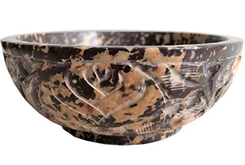 (NAI Soapstone Incense Burner Bowl/Smudge Pot/Wicca Ritual Offering Bowl 5