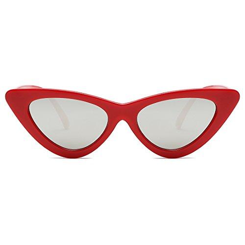 de femmes soleil Chat K0566 kimorn Charnières Rouge Goggles pour lunettes Œil De Clout amp;argent métalliques gfqnXT0I