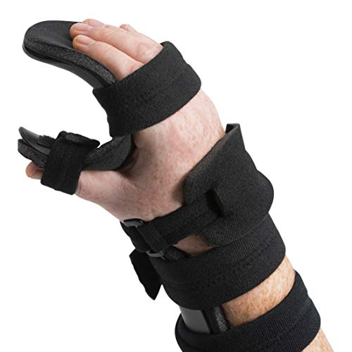 (Stroke Hand Splint- Soft Resting Hand Splint for Flexion Contractures, Comfortably Stretch and Rest Hands for Long Term Ease with Functional Hand Splint, an American Heritage Industries (Right, Large))