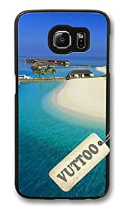 Samsung S6 Case,VUTTOO Stylish Maldives Luxury Resort Hard Case For Samsung Galaxy S6 - PC Black
