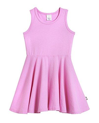 City Threads Little Girls' Cotton Party Twirly Tank Dress - Sensitive Skin and Sensory Friendly - School Summer, Medium Pink, Size 6