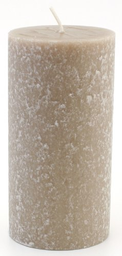 Root Candles Unscented Timberline Pillar Candle , 3 x 6-Inches, Taupe