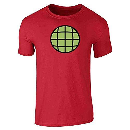 Planeteer Team Costume Vintage Retro 90s Red L Short Sleeve -