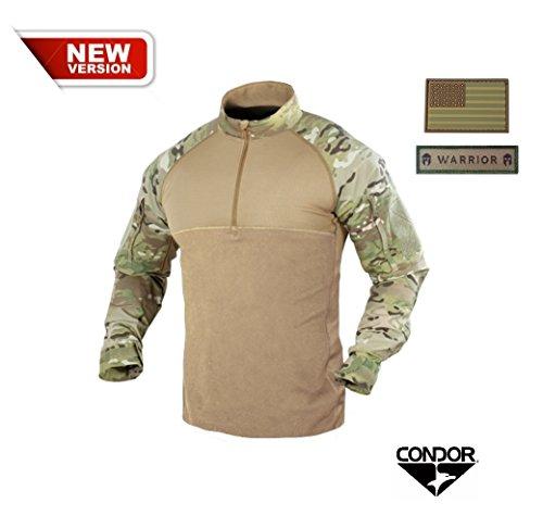 Condor Combat Shirt, MultiCam + 2 FREE Velcro Patches (Medium) by Condor Outdoor