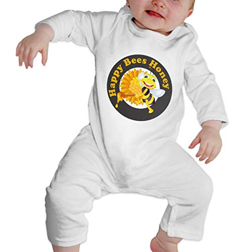 KAYERDELLE Queen Bee Long-Sleeve Unisex Baby Onesies for 6-24 Months Infant White]()