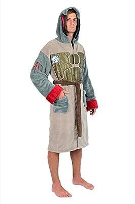 Robe Factory Men's Star Wars Death Star Repeat Pattern Fleece Robe