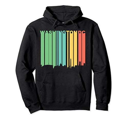1970s Mens Sweater (Retro 1970's Washington DC Cityscape Downtown Skyline Hoodie)