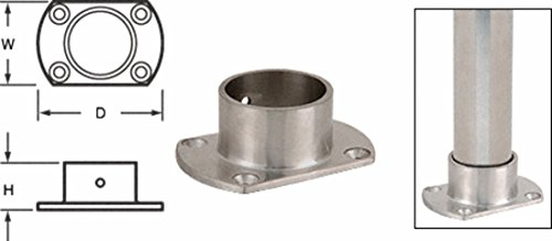 CRL Brushed Stainless Cut Flange for 2