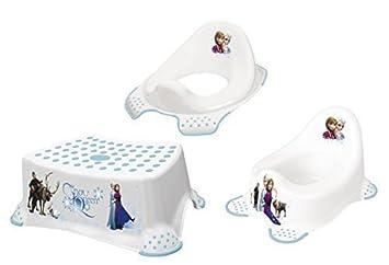 Hocker zweistufig Toilettentrainer Disney Eiskönigin 2er Z Set WC Aufsatz