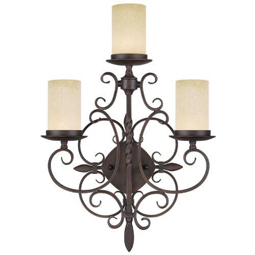 Livex Lighting 5482-58 Millburn Manor 3-Light Wall Sconce, Imperial Bronze