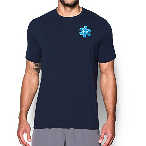 Under Armour Men's Freedom EMS T-Shirt,Midnight Navy (410)/White, Large