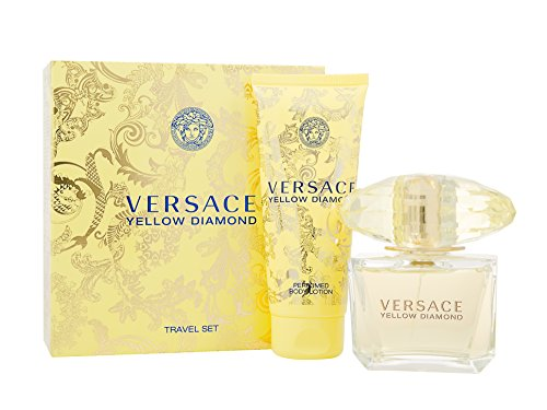 Versace Gift Set Spray (Yellow Diamond by Versace Gift Set Spray Edt Sray 3 oz + Body Lotion 3.4 oz)