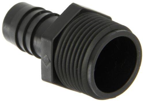 (Thogus Polyethylene Tube Fitting, Adapter, Black, 1/2