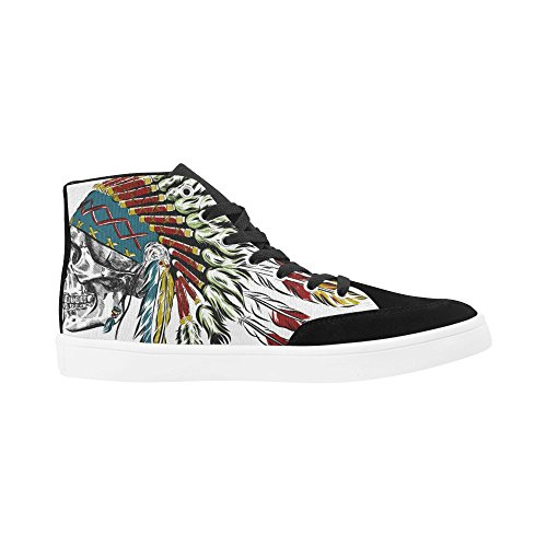 D-story Custom Indian Skull Feather High Top Shoes Per Uomo Scarpe Da Ginnastica Sneaker Di Moda