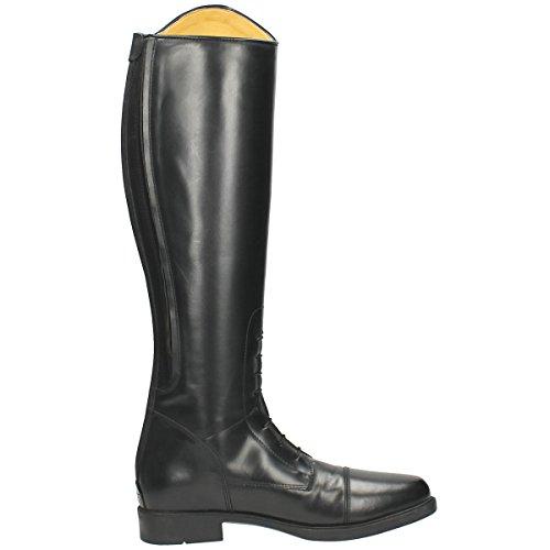 QHP Leder-Reitstiefel Julia für Kinder schwarz normale Wadenweite