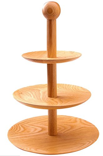 Wood Cupcake Stand Premium Dessert Tower Cake Display Rack 3 Tier for Wedding Party