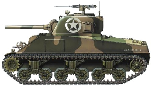 Armourfast Sherman M2A2 75mm Tank (Set of 2) (1/72-Scale)