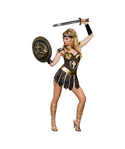 Costume Warrior Roman Female (Queen of Swords Womens Sexy Greek Medieval Roman Warrior)