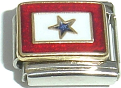 Military Service Star Italian Charm (Star Italian)