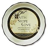 faith hope love pie plate