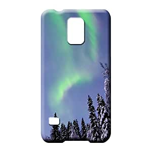samsung galaxy s5 phone carrying cover skin durable Brand Hot Fashion Design Cases Covers colorful aurora polar light polarization