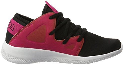 Kappa Horus, Zapatillas Unisex Adulto Negro (1122 Black/pink)