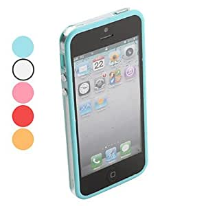 Intermediate Transparent Bumper Case for iPhone 5/5S (Assorted Colors) , Pink