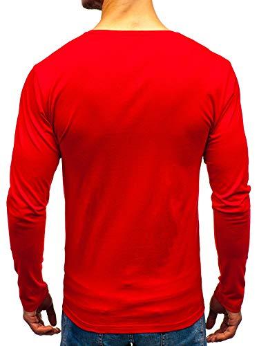 Stampa – Moda Manica 1a1 Lunga Da Uomo Longsleeve Scollo Bolf Di Maglia Rosso 1219 Rotondo UwxZ1qI5
