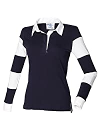 Front Row Womens striped sleeve rugby shirt
